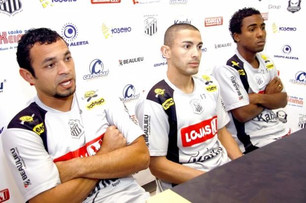 Foto: Denilson, Gilmar e Oliveira chegaram ontem e já começaram a trabalhar para a disputa da Série D
