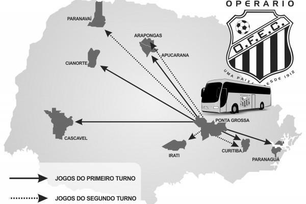 Foto: Trajetória do Operário no Paranaense 2011