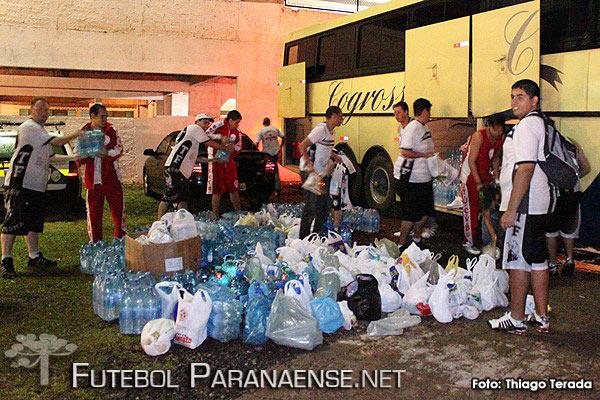 Torcida do Operário marca golaço em solidariedade - Foto: Thiago Terada