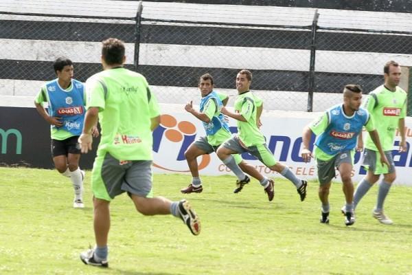 Os jogadores do Operário participaram na sexta-feira do último coletivo antes do jogo
