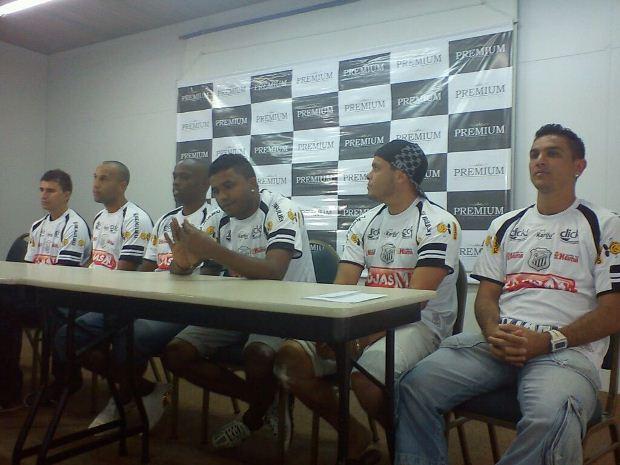 Da esq. p/ dir.: Jucian, Renato Saldanha, Rodrigo Ribeiro, Baiano, Ceará e Marcelinho