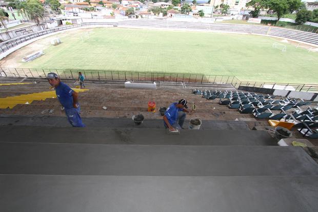 Alvinegro atendeu pedidos da FPF e já iniciou as obras em Vila Oficinas - Foto: Fábio Matavelli